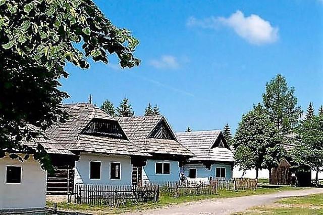 Liptov village museum in Pribylina