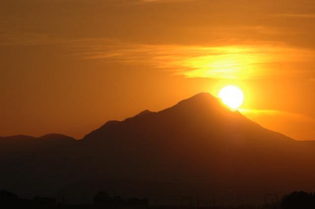 Západ slnka nad Demänovskou horou